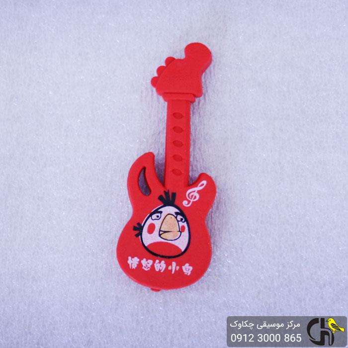پاک کن طرح گیتار قرمز رنگ