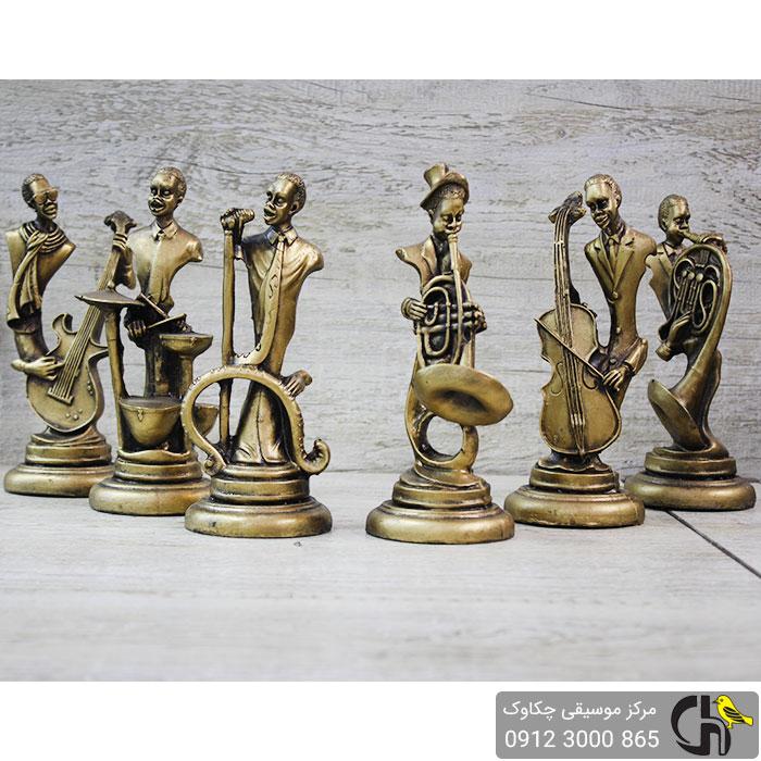 مجسمه نوازنده درامز برنزی