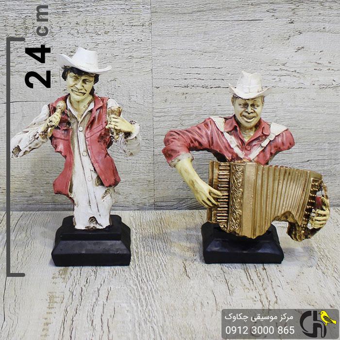 مجسمه موسیقایی طرح خواننده و نوازنده آکاردئون