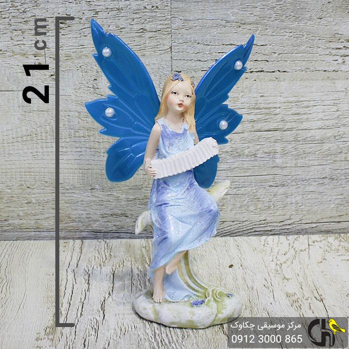 مجسمه موسیقایی طرح دختر آکاردئون زن آبی